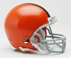 Cleveland Browns 2006-14 Throwback Replica Mini Helmet w/ Z2B Face Mask - Fanz of Sportz