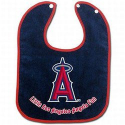 Los Angeles Angels Baby Bib - Two-Toned Snap