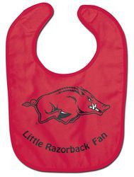 Arkansas Razorbacks Baby Bib - All Pro Little Fan