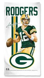 Green Bay Packers Aaron Rodgers Beach Towel