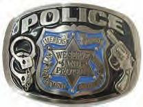 Police We Serve & Protect Belt Buckle