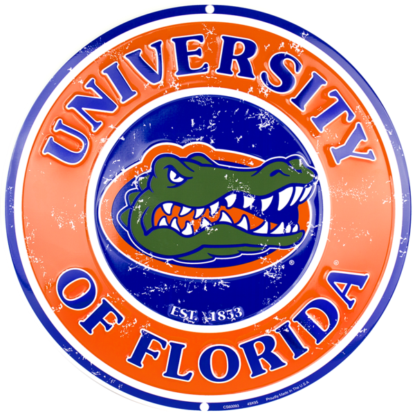 Florida Gators Circle Sign