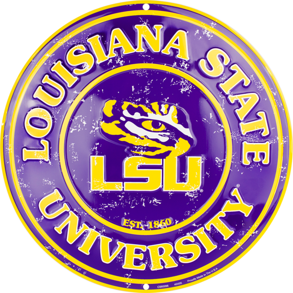 LSU Tigers Circle Sign