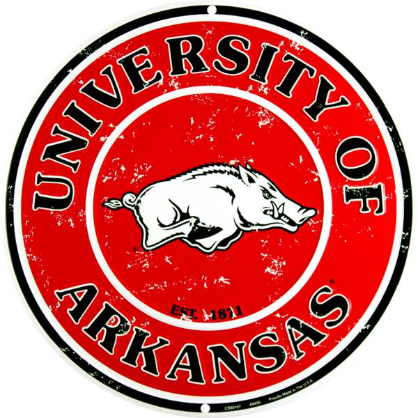 Arkansas Razorbacks Circle Sign