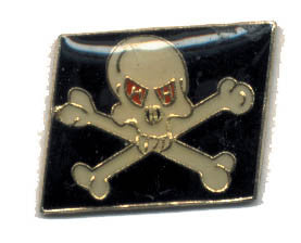 Skull & Crossbones with Red Eyes Lapel Pin 12 Count Lot