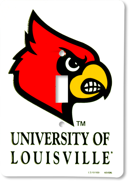 Louisville Cardinals Single Light Switch Cover