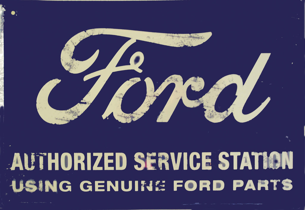 "Ford Authorized Service Station 12x18"" Tin Sign"