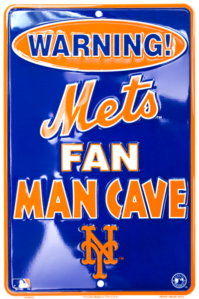 "New York Mets Fan Man Cave 8""x12"" Sign"