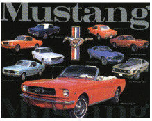 "Mustang Collage 12""x16"" Tin Sign"