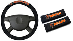 Chicago Bears  NFL Steering Wheel Cover and Seatbelt Pad Auto Deluxe Kit - Fanz of Sportz