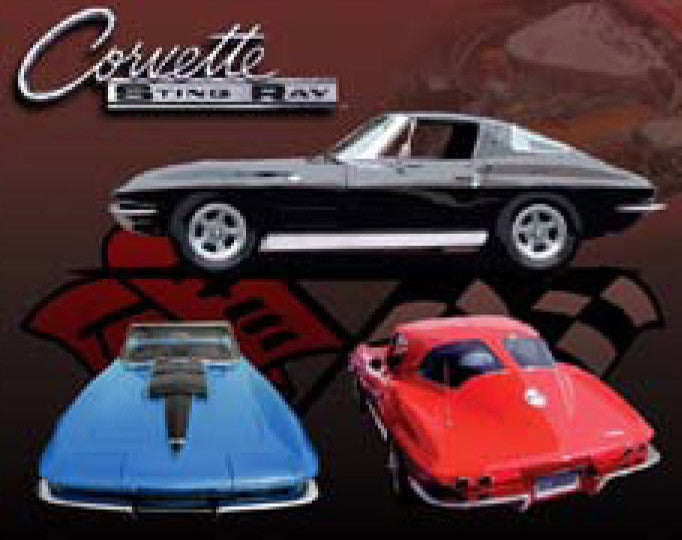 "Corvette Sting Ray 12""x16"" Tin Sign"