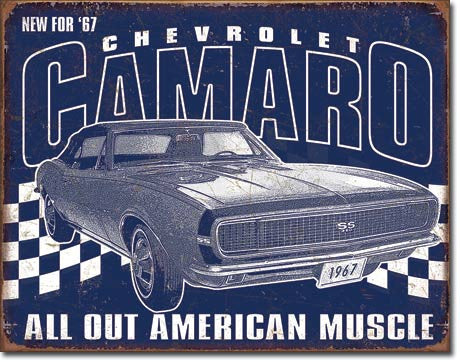 "Camaro 12""x16""  Tin Sign"