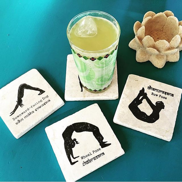 YogaCoaster: The Yoga Gift Shop Bhakti Coaster Set for Your Yoga Friends