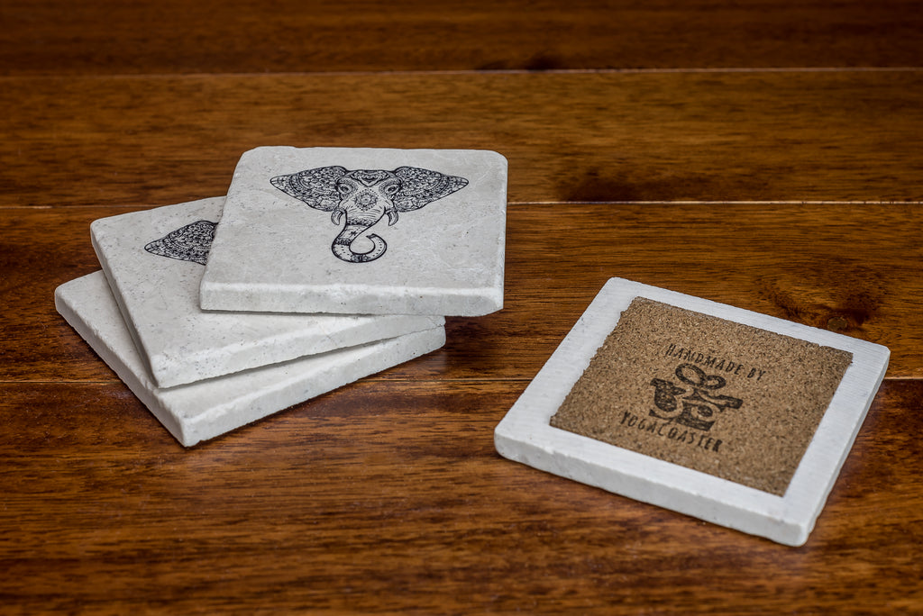 Elephant Decor Coasters - YogaCoaster