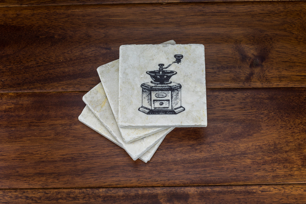 Vintage Coffee Drinking Coaster Set - YogaCoaster