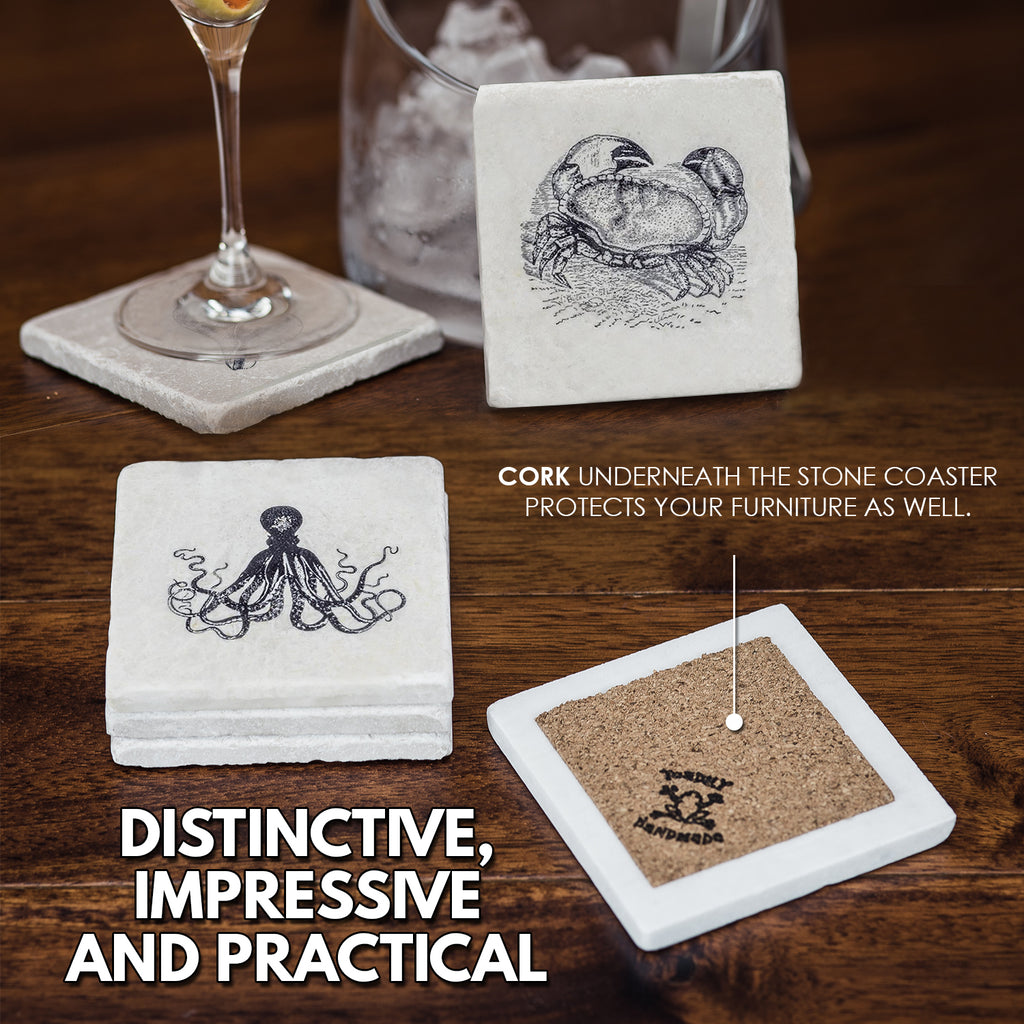Nautical Coaster Set - YogaCoaster