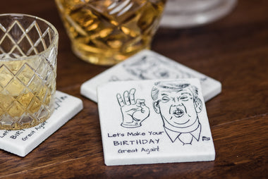 Trump Birthday Coaster Set - YogaCoaster