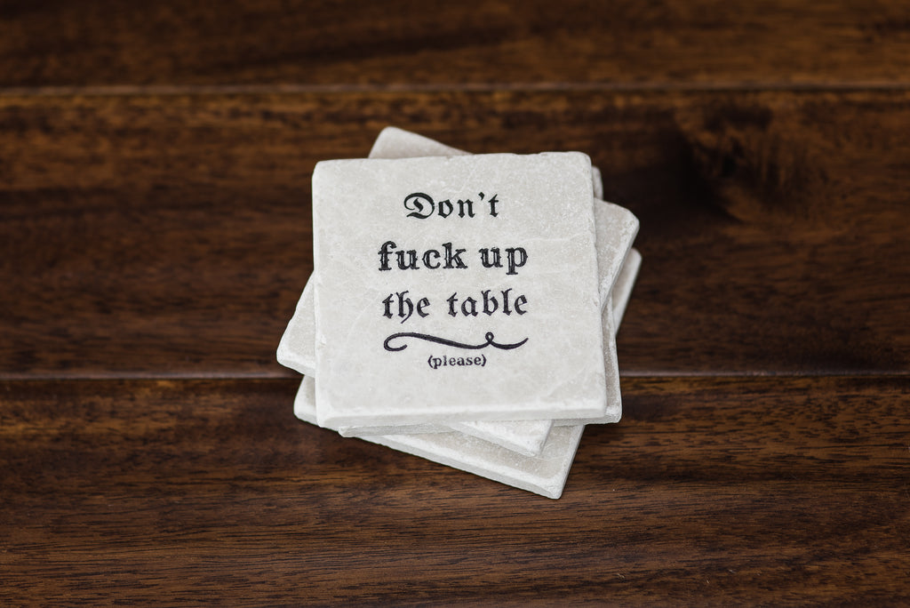 Don't Fuck Up The Table (Please) - YogaCoaster