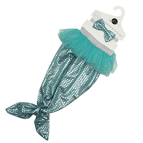 Newborn Baby Girl Mermaid Tail and Headband Set Photography Prop Outfit Clothes (Mermaid Tail)