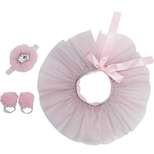 Newborn Girl Tutu Set Skirt with Headband Photography Prop Pink