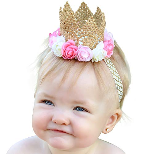 Baby Headband Newborn Girl Princess Tiara Crown Headbands - Photo Prop