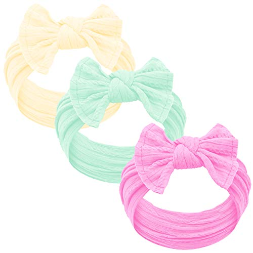 Baby Girl Headbands and bows - Nylon Headband Fits newborn toddler infant girls