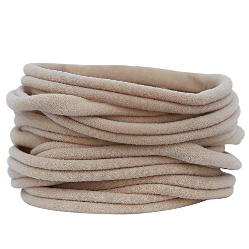Nylon Headbands for Baby Girls 200 Bulk Wholesale DIY (200 Pieces - Nude)