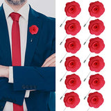 JLIKA Lapel Flower Pin Rose for Wedding Boutonniere Stick (Set of 12 PINS)