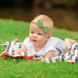 Baby Girl Headbands and bows - Nylon Headband Fits newborn toddler infant girls (Gianna Collection)