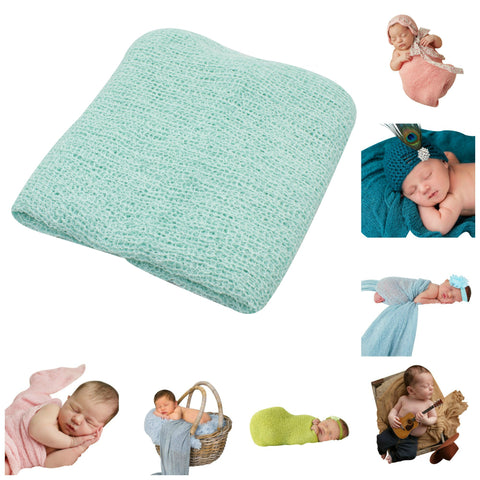 AQUA - Newborn Baby Photography Photo Prop Stretch Wrap