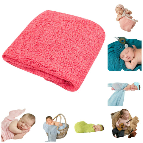 CORAL - Newborn Baby Photography Photo Prop Stretch Wrap