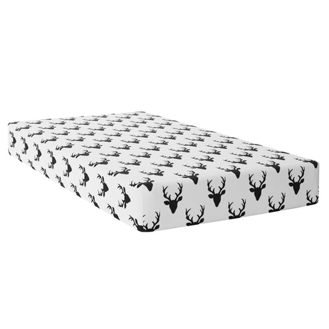 Crib Sheet - Black White Buck