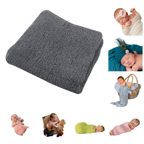 DARK GRAY- Newborn Baby Photography Photo Prop Stretch Wrap