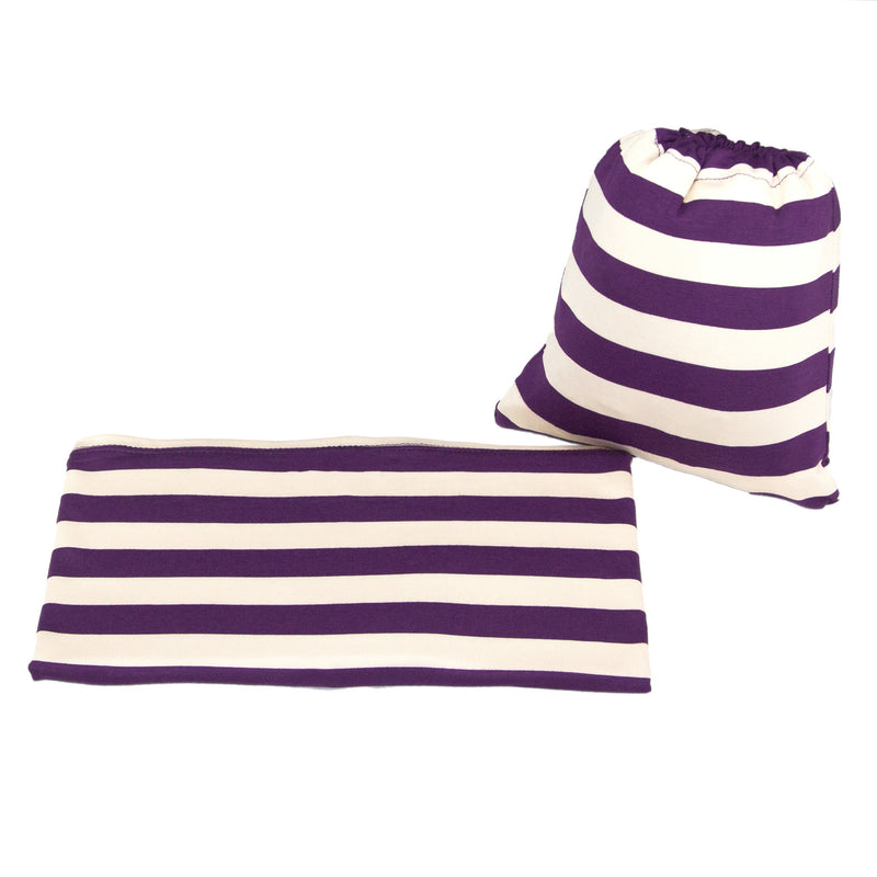 CREAM & GRAPE STRIPE