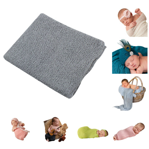 GRAY- Newborn Baby Photography Photo Prop Stretch Wrap