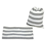 GRAY & WHITE STRIPE - Multi Use Baby Car Seat Canopy and Nursing Cover