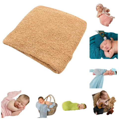 HAZELNUT- Newborn Baby Photography Photo Prop Stretch Wrap