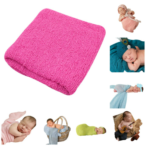 HOT PINK- Newborn Baby Photography Photo Prop Stretch Wrap