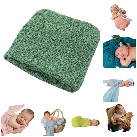HUNTER GREEN - Newborn Baby Photography Photo Prop Stretch Wrap