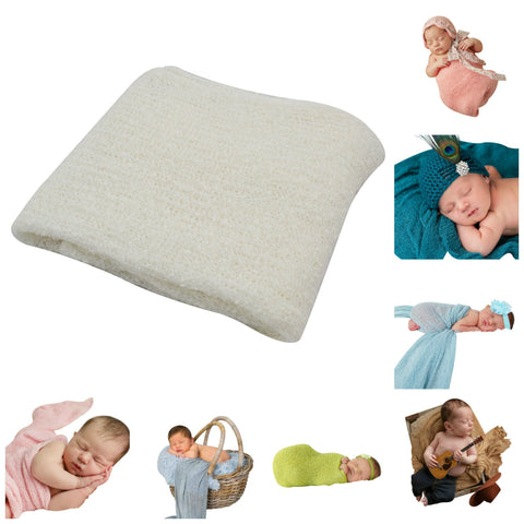 IVORY - Newborn Baby Photography Photo Prop Stretch Wrap