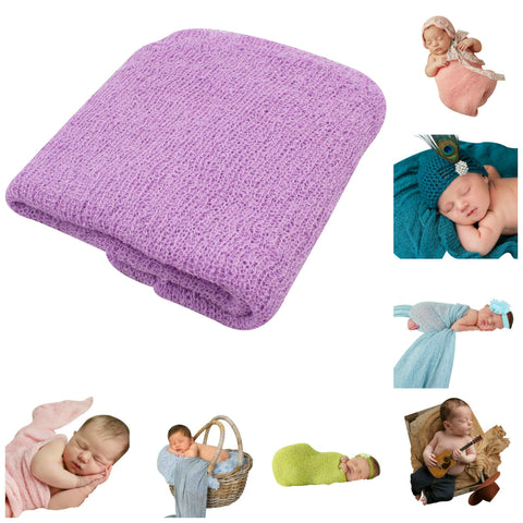 LAVENDER - Newborn Baby Photography Photo Prop Stretch Wrap