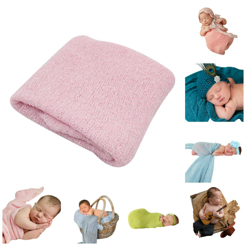 LIGHT PINK - Newborn Baby Photography Photo Prop Stretch Wrap
