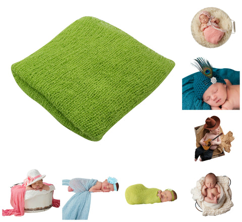 LIME GREEN - Newborn Baby Photography Photo Prop Stretch Wrap