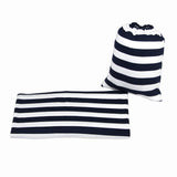 NAVY & WHITE STRIPE - Multi Use Baby Car Seat Canopy and Nursing Cover