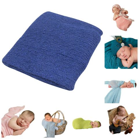 NAVY BLUE - Newborn Baby Photography Photo Prop Stretch Wrap