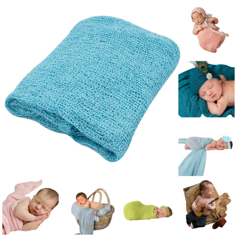 OCEAN BLUE - Newborn Baby Photography Photo Prop Stretch Wrap