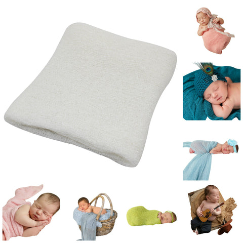 OFF WHITE - Newborn Baby Photography Photo Prop Stretch Wrap