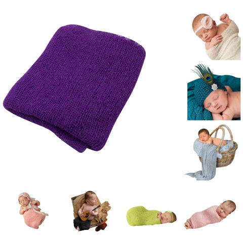 PURPLE - Newborn Baby Photography Photo Prop Stretch Wrap
