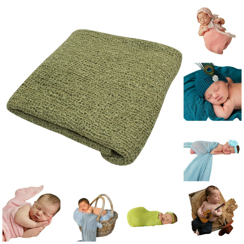 SAGE - Newborn Baby Photography Photo Prop Stretch Wrap