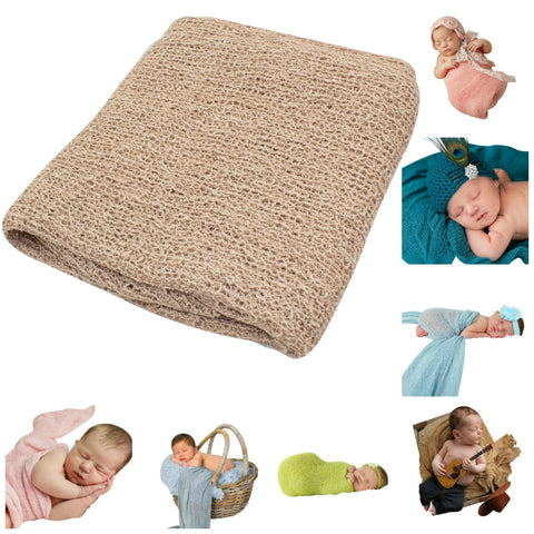 TAN - Newborn Baby Photography Photo Prop Stretch Wrap